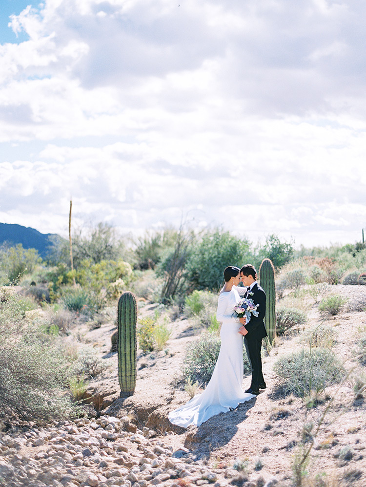 wedding portraits in the Arizona desert