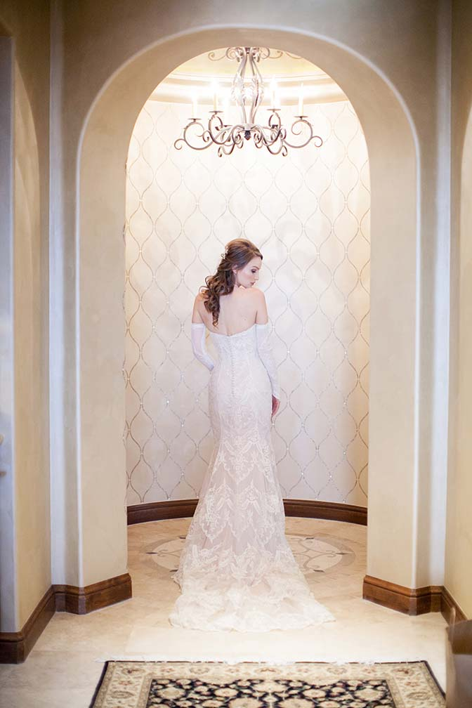 Strapless lace Maggie Sottero gown