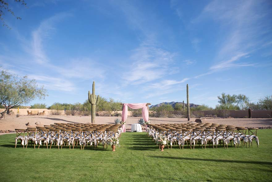 Outdoor wedding ceremony in Phoenix
