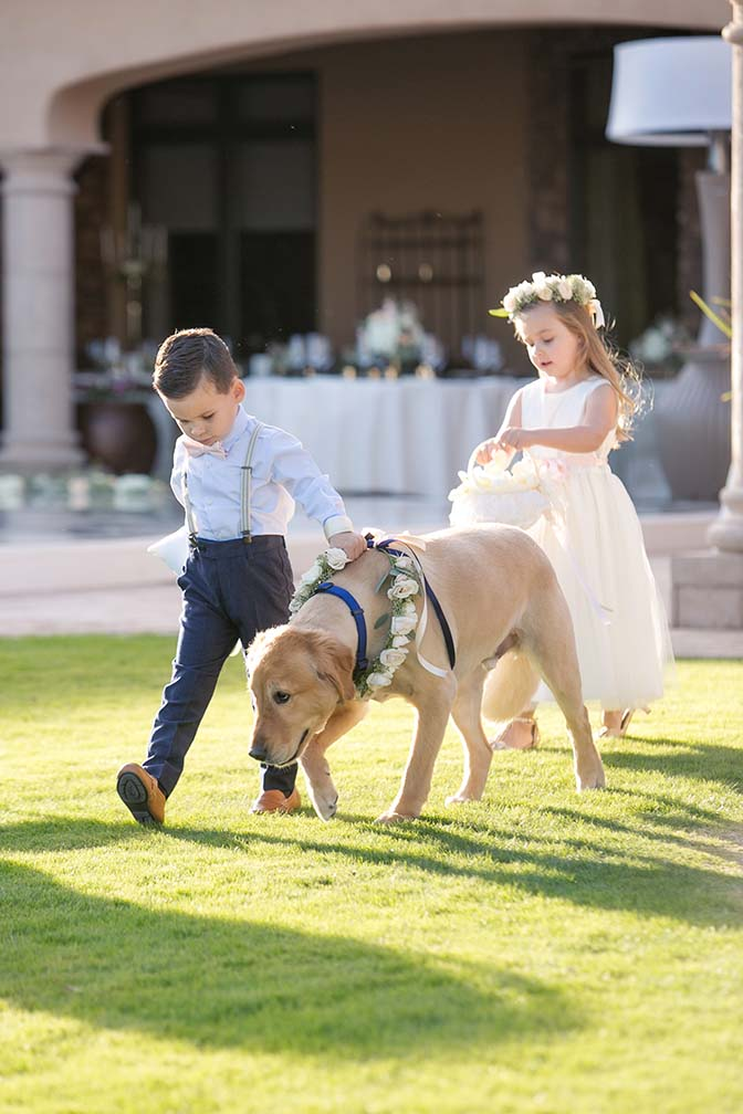 Ring bearer, flower girl, and
