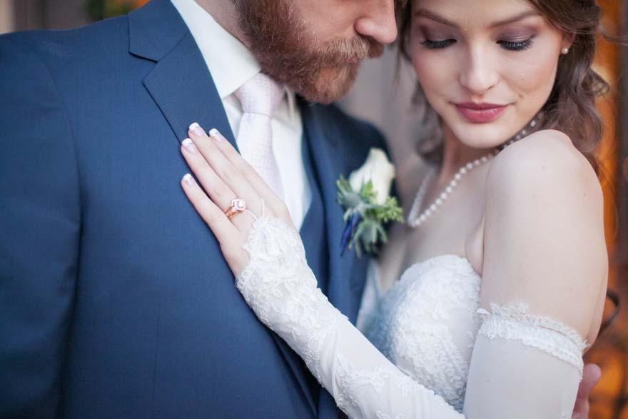 Unique art deco wedding ring