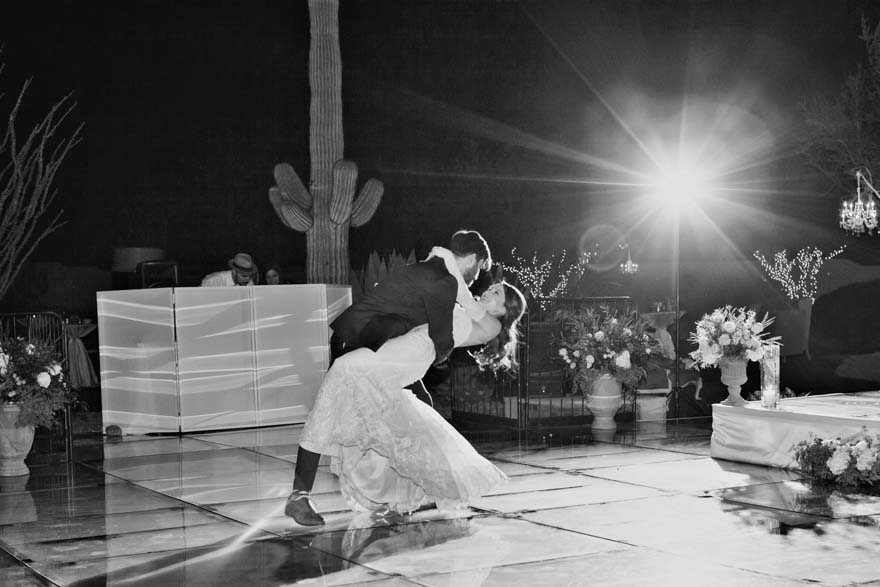 A low dip during the first dance