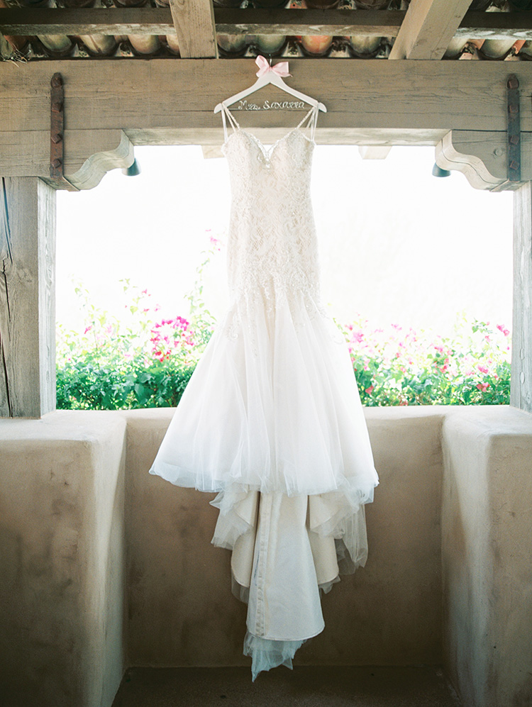 lace & tulle wedding gown
