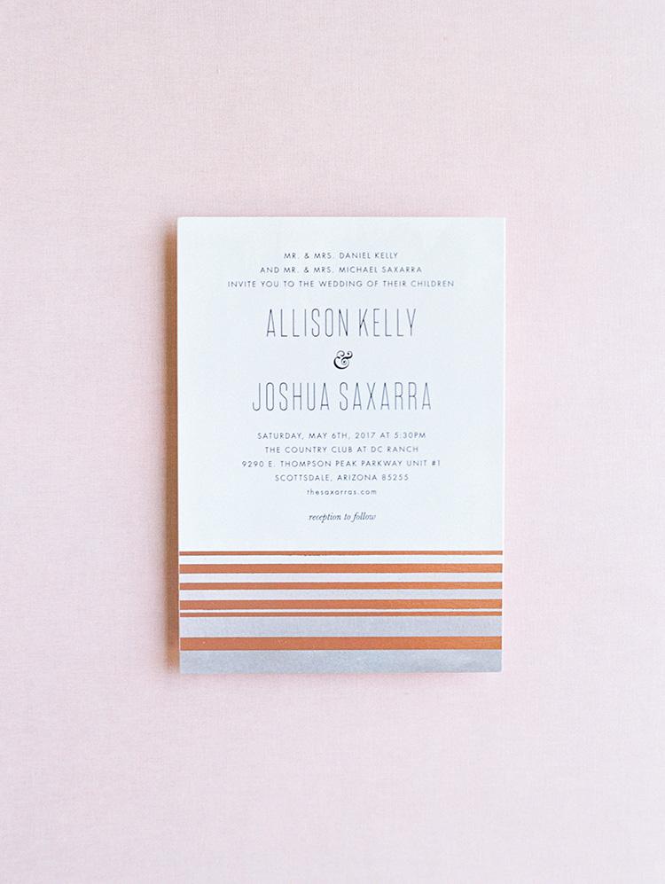 graphic, modern wedding invitation