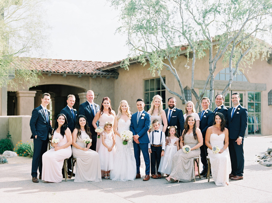 stylish mis-matched bridal party