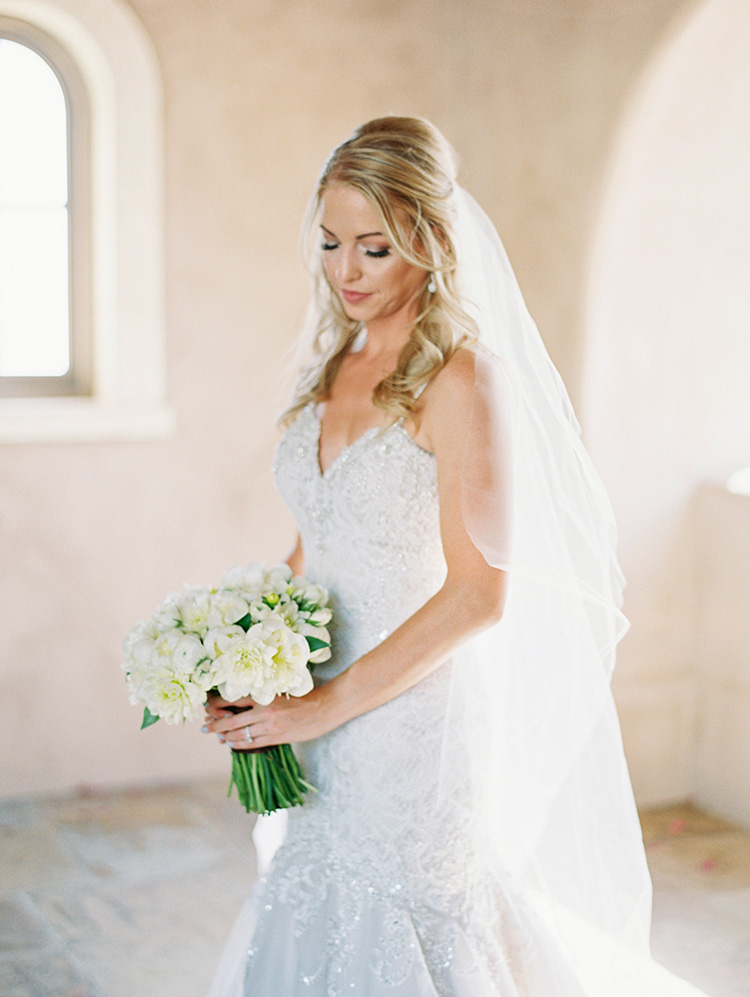 beaded lace & tulle wedding gown