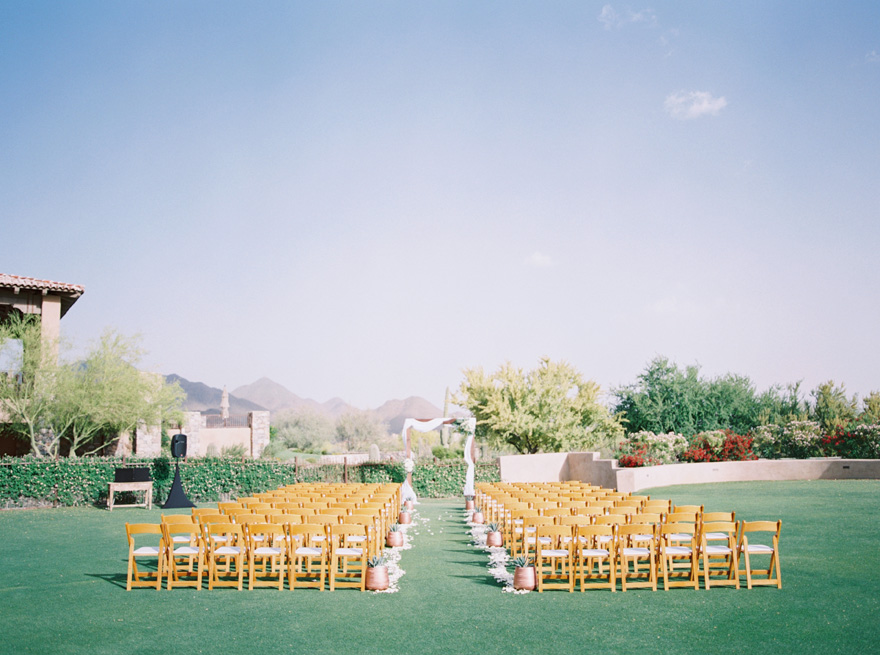 DC Ranch Country Club wedding outdoor ceremony