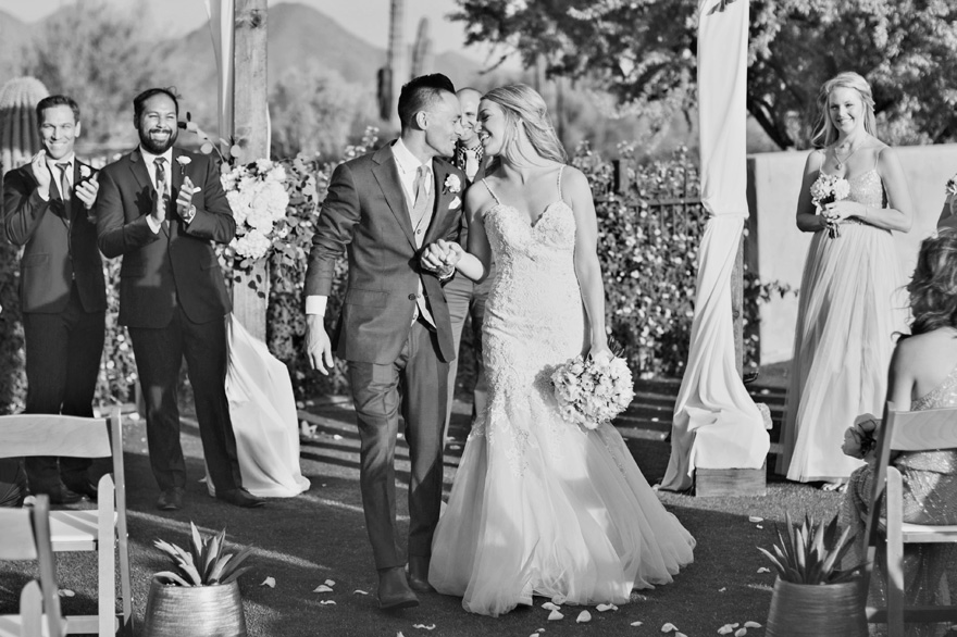 outdoor wedding ceremony at DC Ranch Country Club