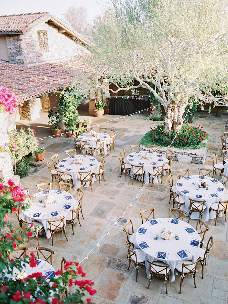 outdoor wedding reception at DC Ranch Country Club