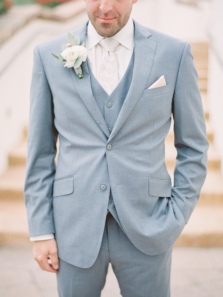 elegant grey three piece suit
