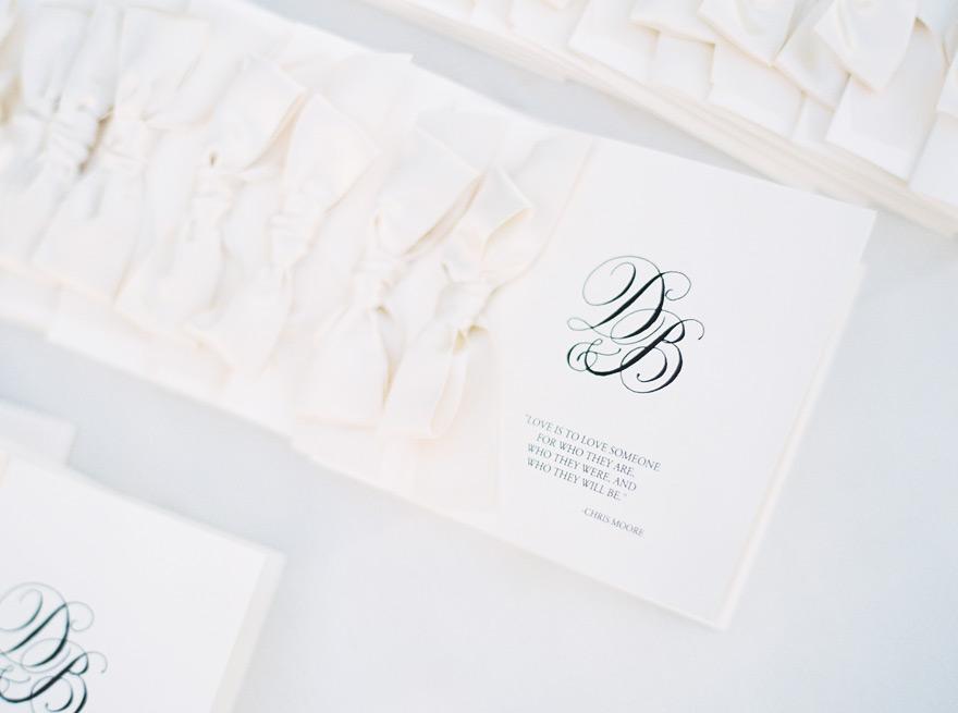 White and black elegant wedding cards.