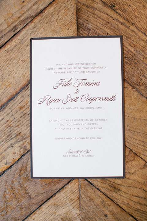 Elegant, modern wedding invitation
