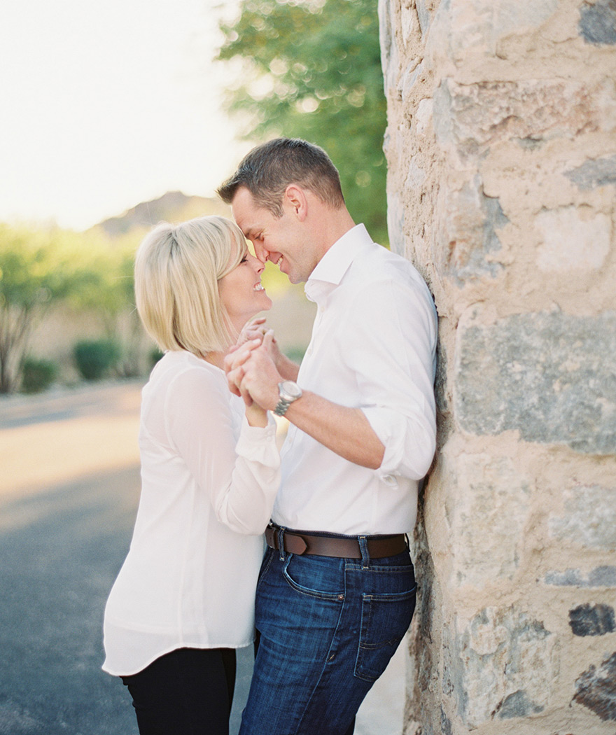 Adorable couple nose to nose in beautiful outdoor session!