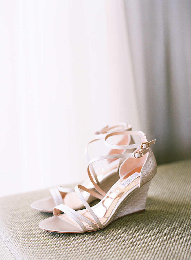 Getting ready - Bagdley Mischka shoes for the bride