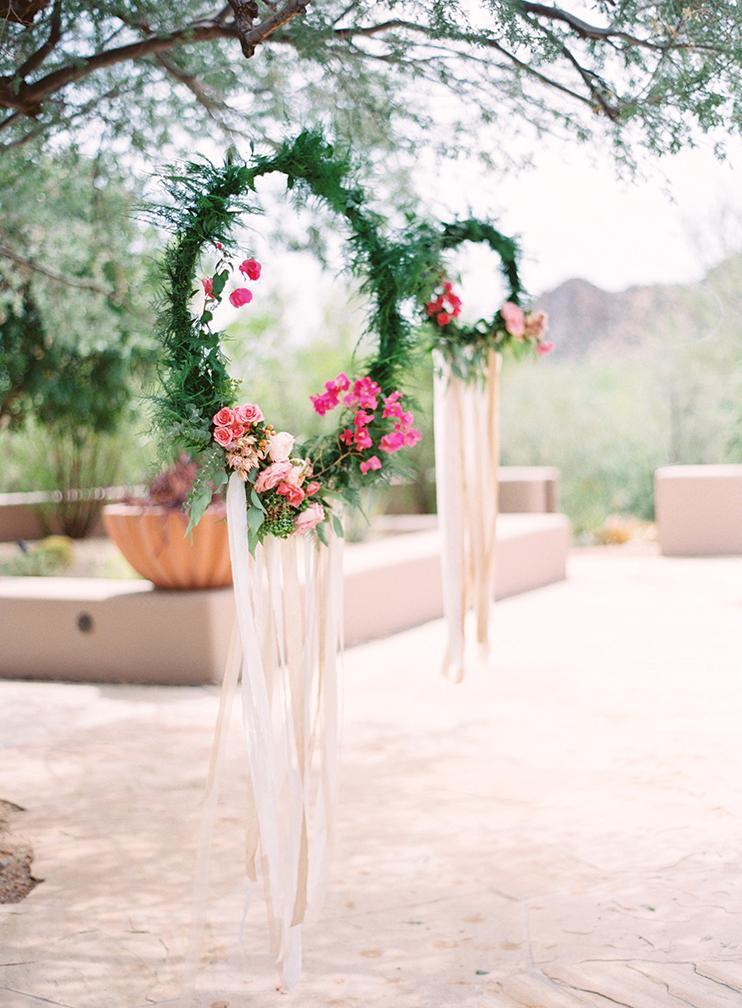 boho floral wreath