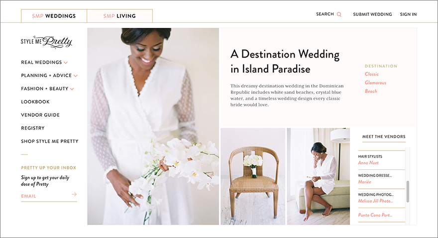 Punta Cana Dominican Republic destination wedding featured on Style Me Pretty