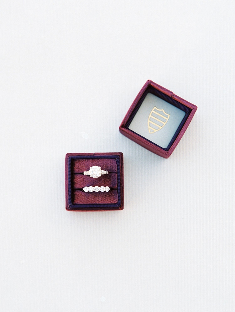 sparkling engagement ring in a Scarlett Mrs. Box