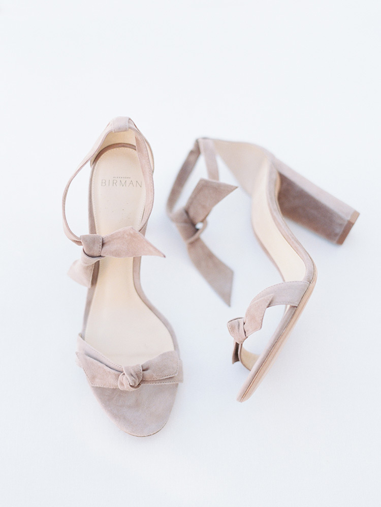 suede Alexandre Birman shoes for the bride