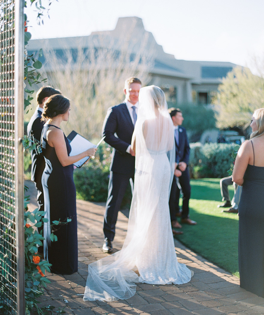 outdoor wedding at Troon North Golf Club