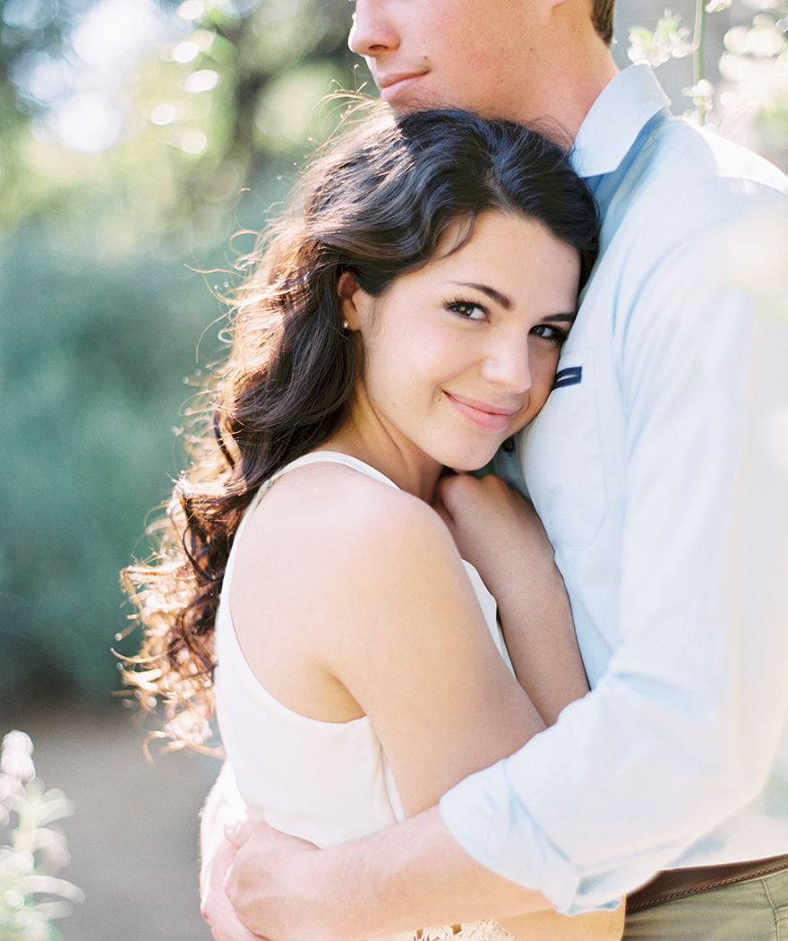happy embrace, engagement photos