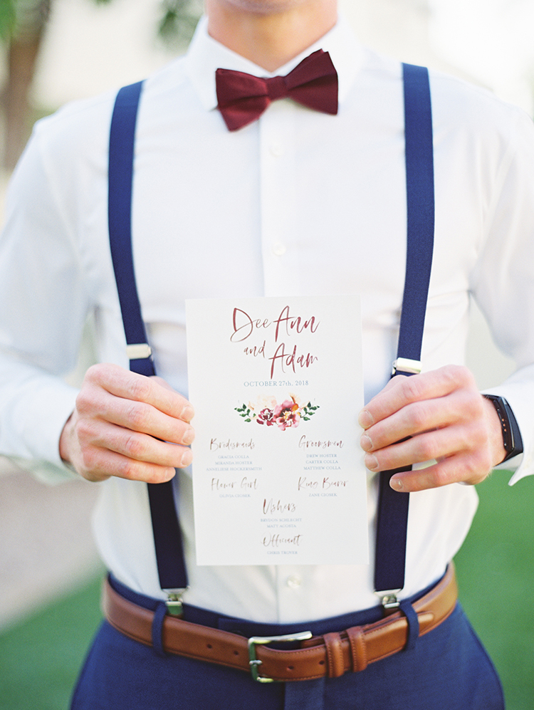 fun, floral wedding invitation