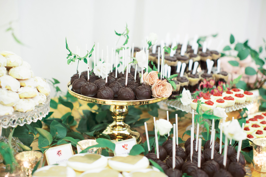 lavish dessert table