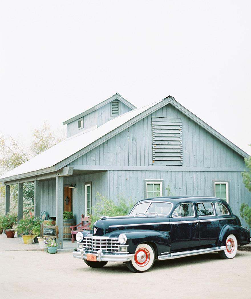 Classic Cadillac wedding car