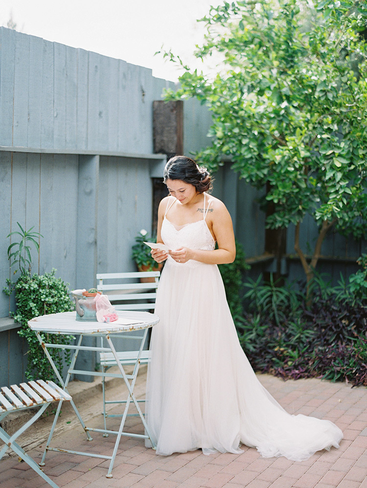 lace BHLDN gown