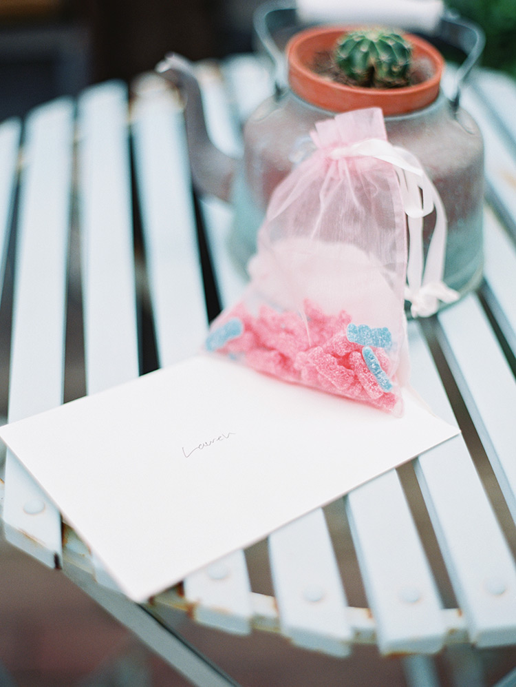 Sour Patch Kids and a wedding note