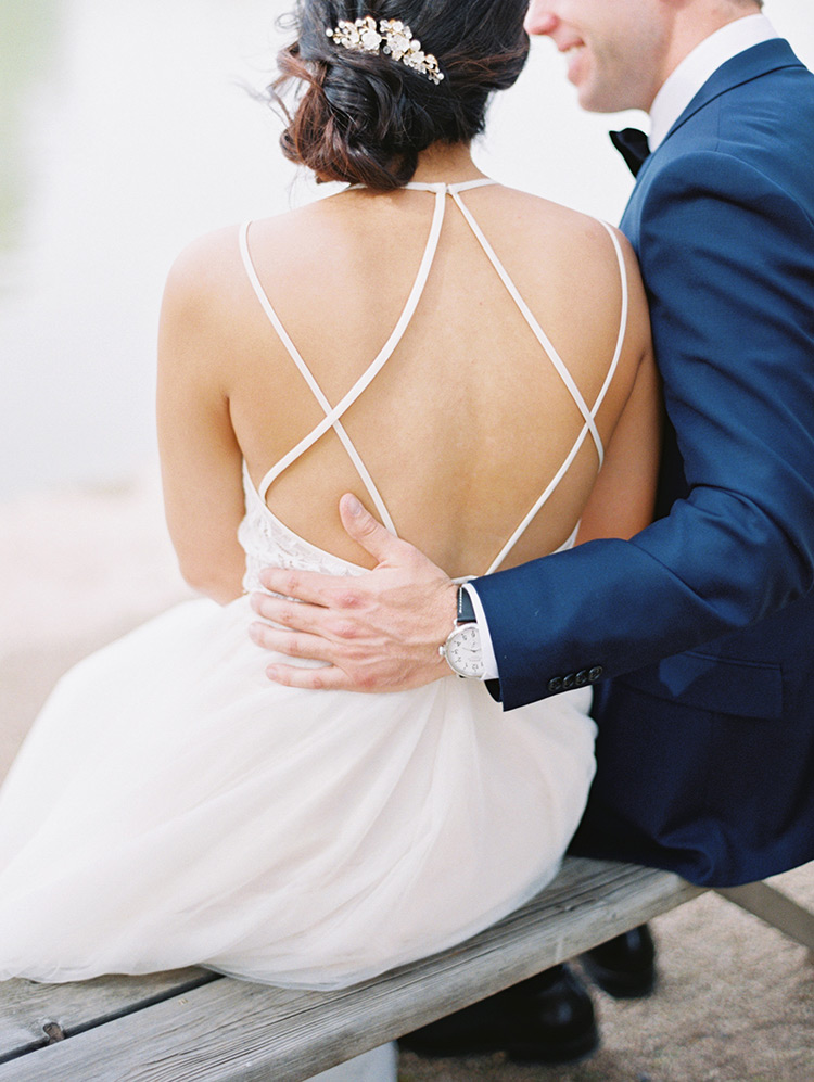 BHLDN gown with back detail