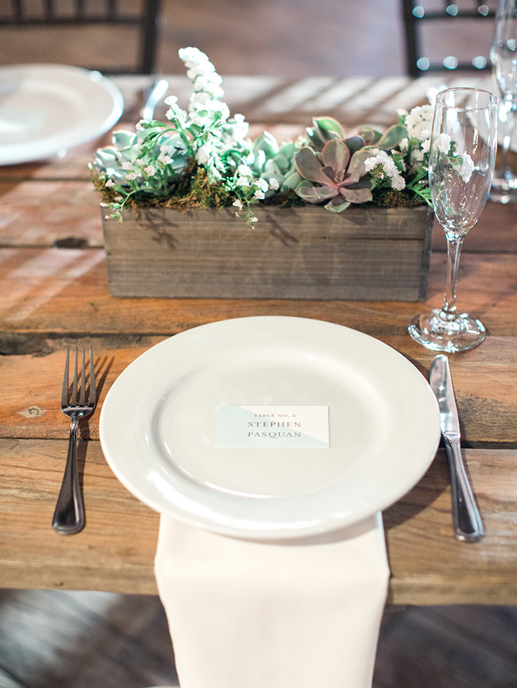 rustic wedding reception in the Lake House