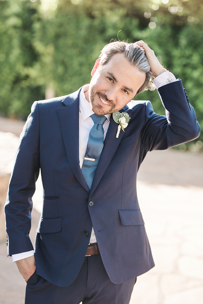 dapper groom in blue