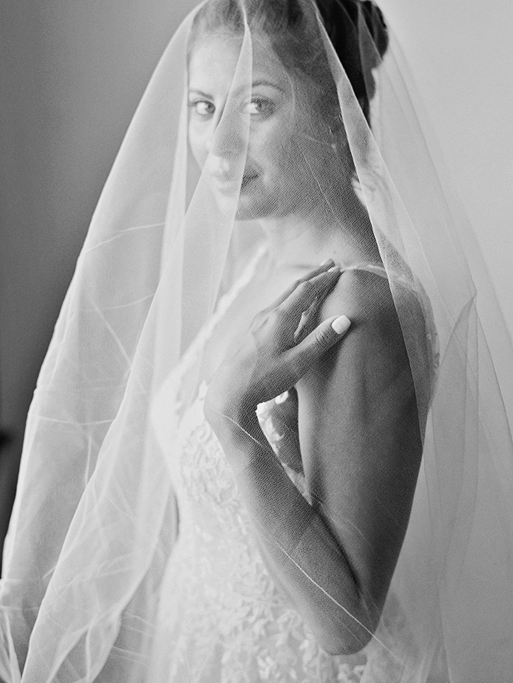 soft veil for the bride