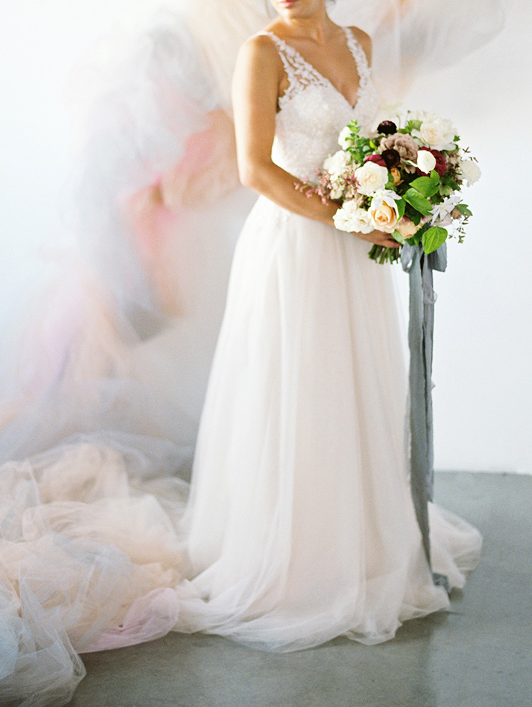 tulle bride in Savannah dress from Jenny by Jenny Yoo