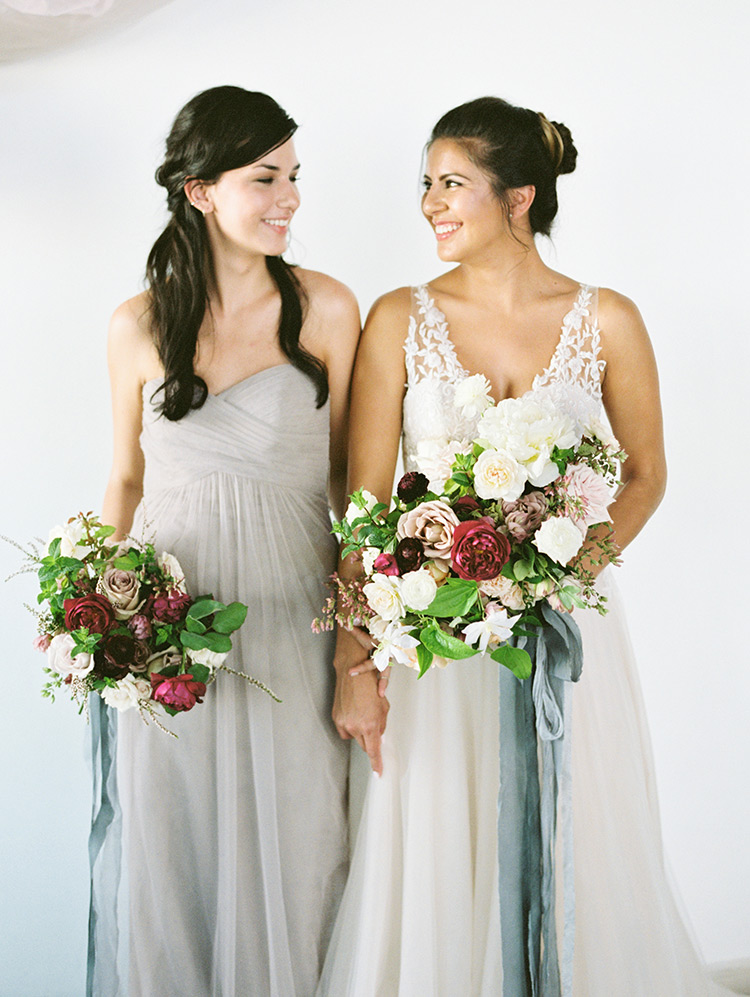 dreamy tulle look for bride & bridesmaids