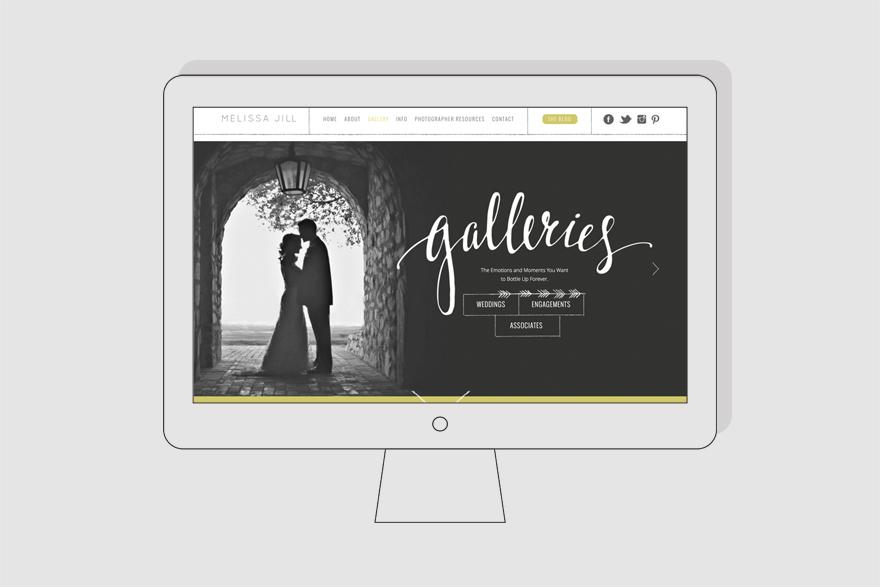 wedding photography website portfolio page