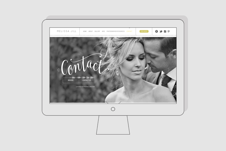 wedding photography website contact page