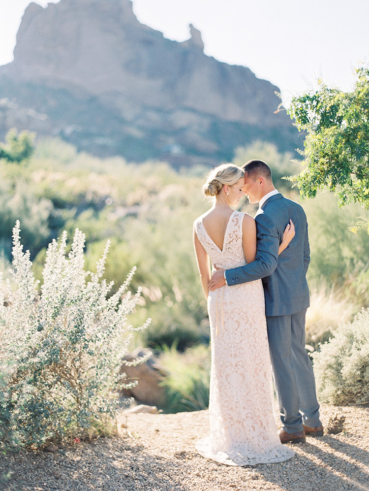 desert wedding scene