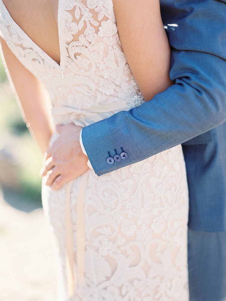 lace wedding dress detail