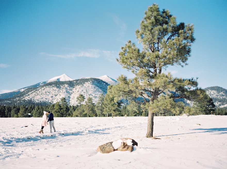 Flagstaff winter scene at photo shoot