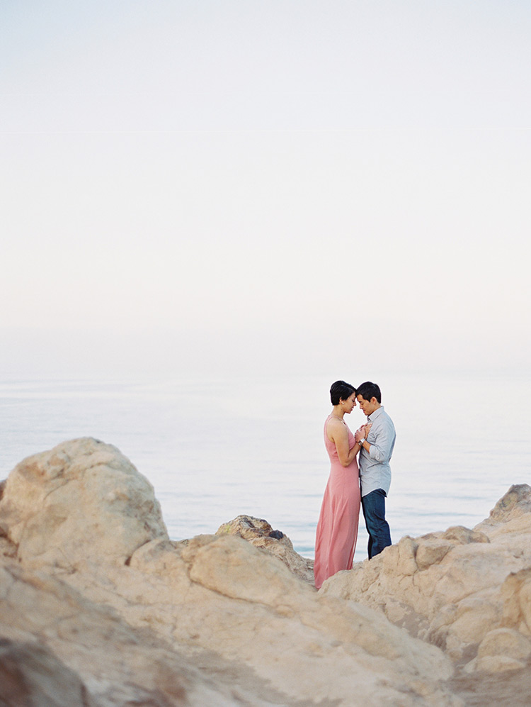 Point Dume Malibu engagement photo shoot