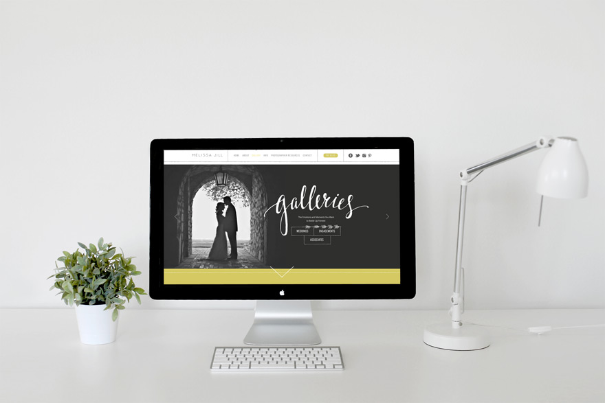 photographer's website displaying the gallery page