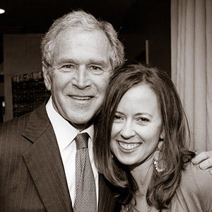 meeting President George W. Bush