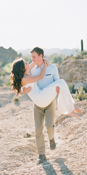 Forest & Desert Engagement Shoot near Phoenix, Arizona