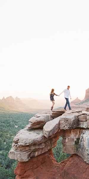 Merry Go Round Rock Sedona Engagement