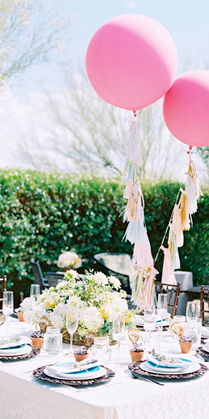 Scottsdale Hot Air Balloon Themed Baby Shower