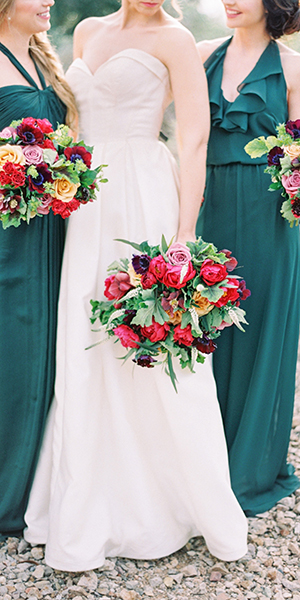 Jewel-toned editorial featured on 100 Layer Cake