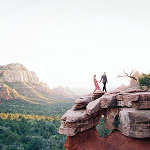 Adventurous Sedona Engagement Shoot
