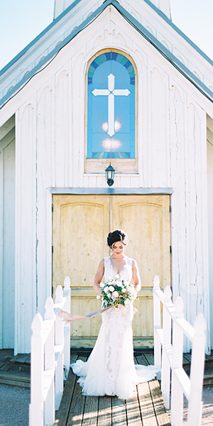 White Chapel Wedding Inspiration in the desert