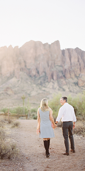 Apache Junction Sunrise Engagement Shoot